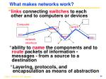 what makes networks work