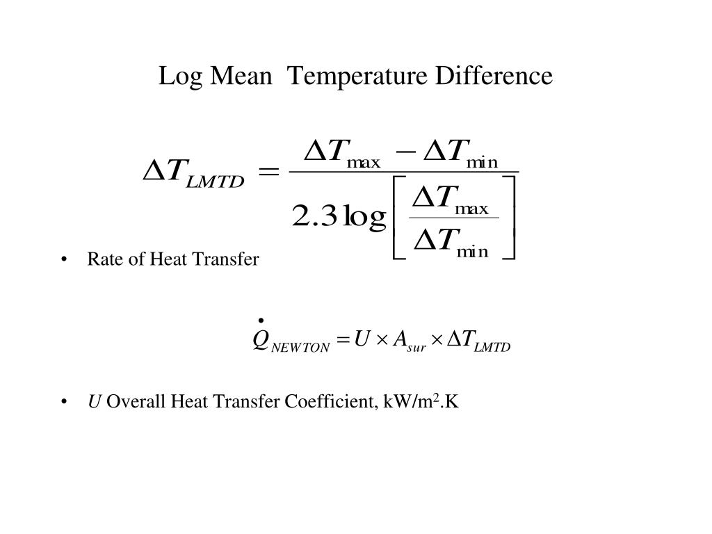 Log Mean  Temperature Difference