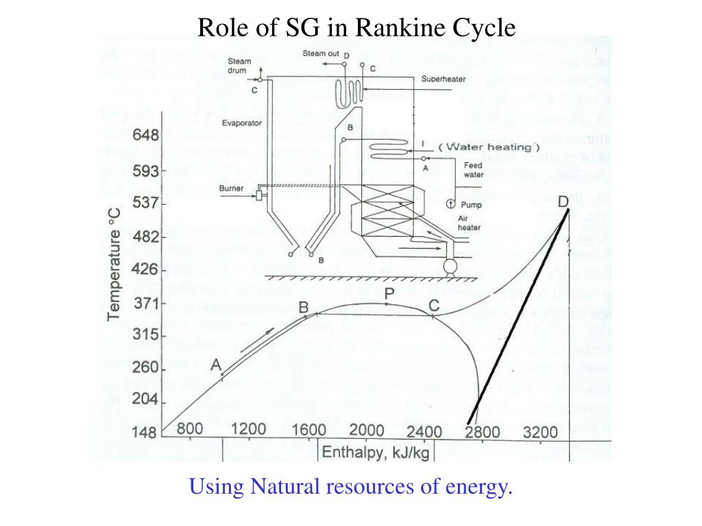 Role of SG in Rankine Cycle