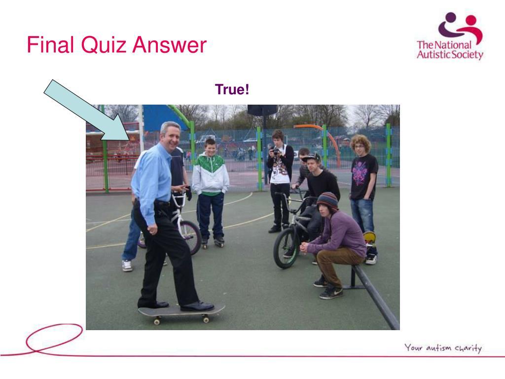 Final Quiz Answer