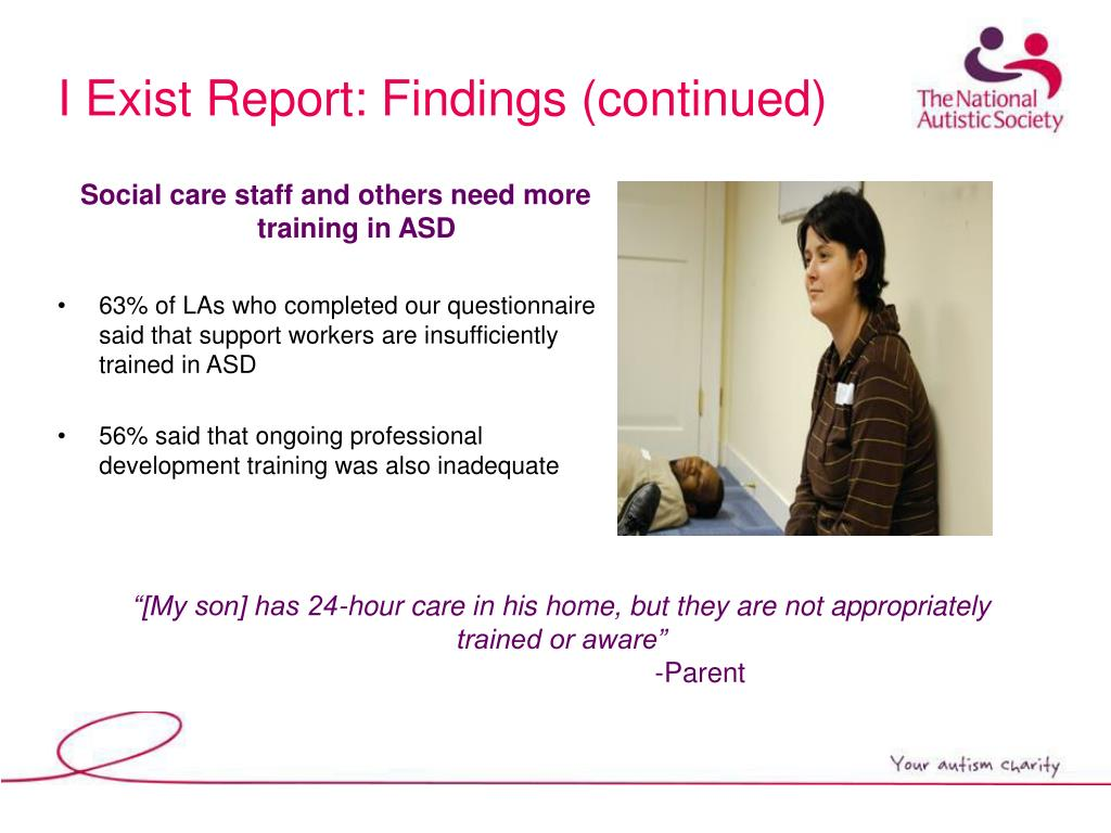 I Exist Report: Findings (continued)