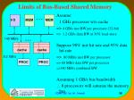 limits of bus based shared memory
