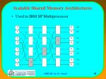 scalable shared memory architectures