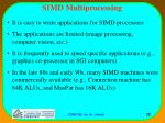 simd multiprocessing