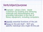 verb object purpose
