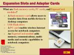 expansion slots and adapter cards30