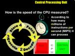 central processing unit9