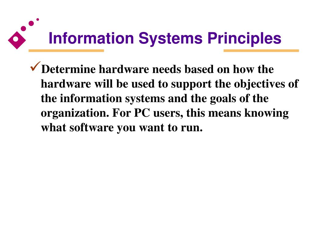Information Systems Principles
