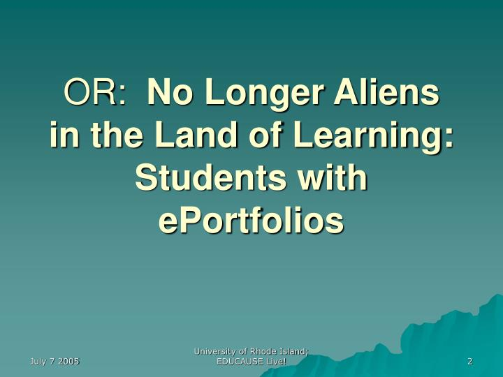 PPT - Current State of E-Portfolios in Higher Education PowerPoint ...