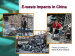 e waste impacts in china