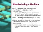 manufacturing monitors
