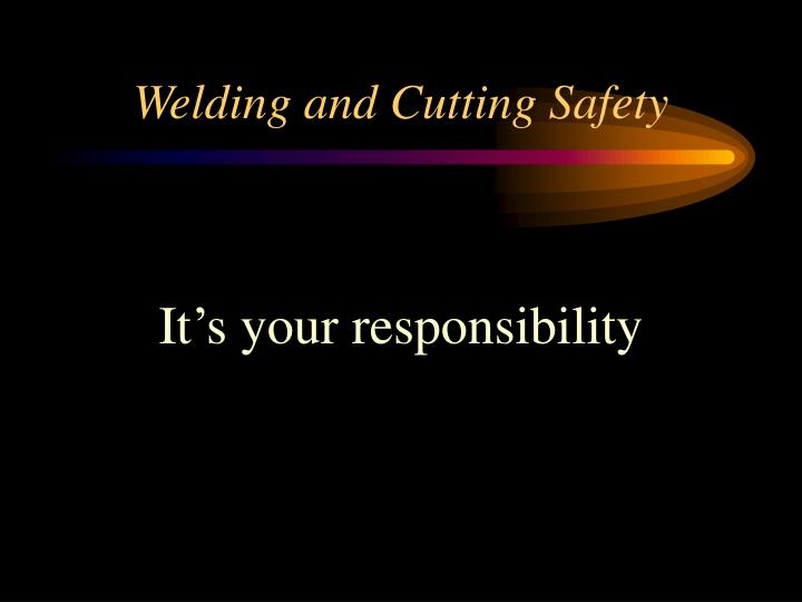 welding and cutting safety n.