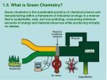 1 5 what is green chemistry