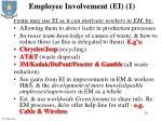 employee involvement ei 1