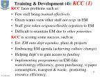 training development 4 kcc 1