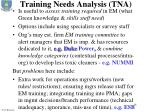 training needs analysis tna