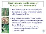 environmental health issues of sf bay area air pollution
