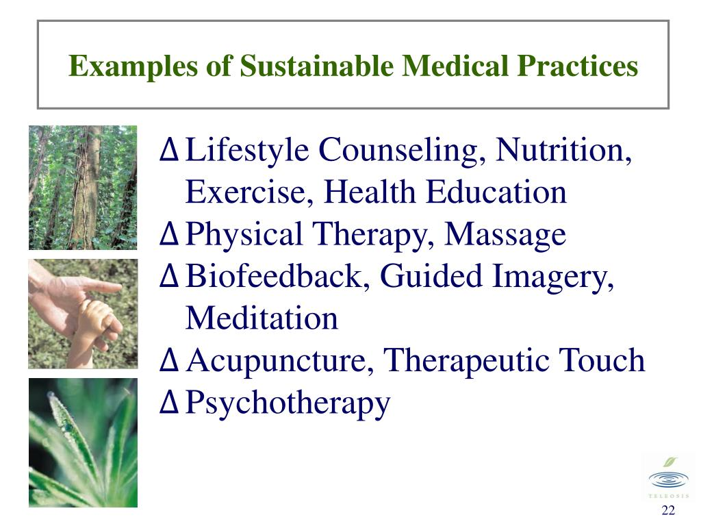 Examples of Sustainable Medical Practices