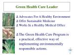 green health care leader27