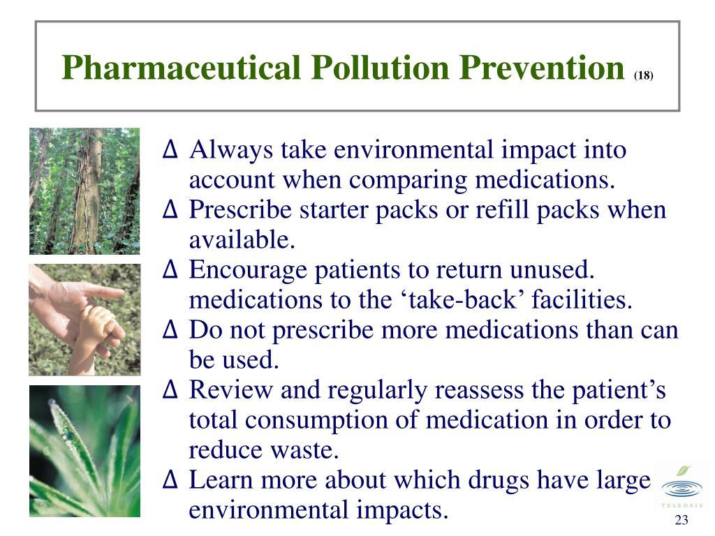 Pharmaceutical Pollution Prevention