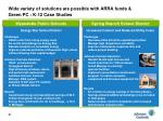 wide variety of solutions are possible with arra funds green pc k 12 case studies