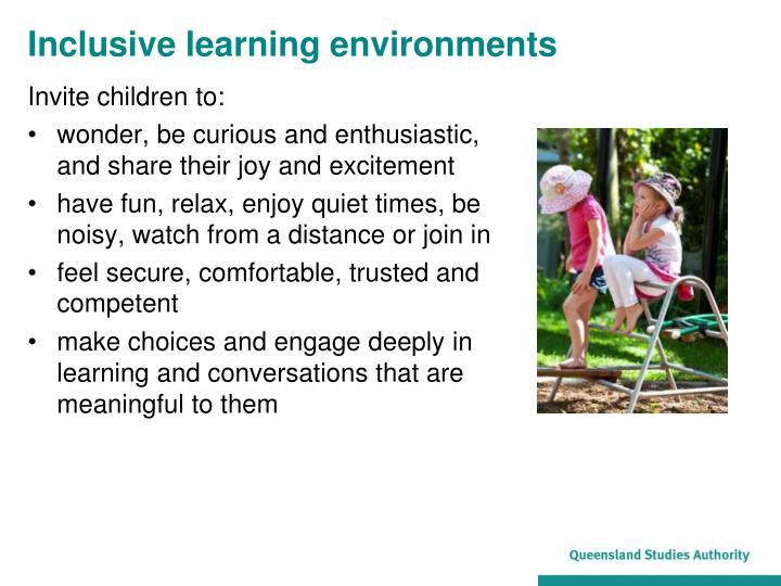 Inclusive learning environments