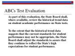 abcs test evaluation