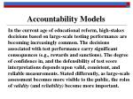 accountability models