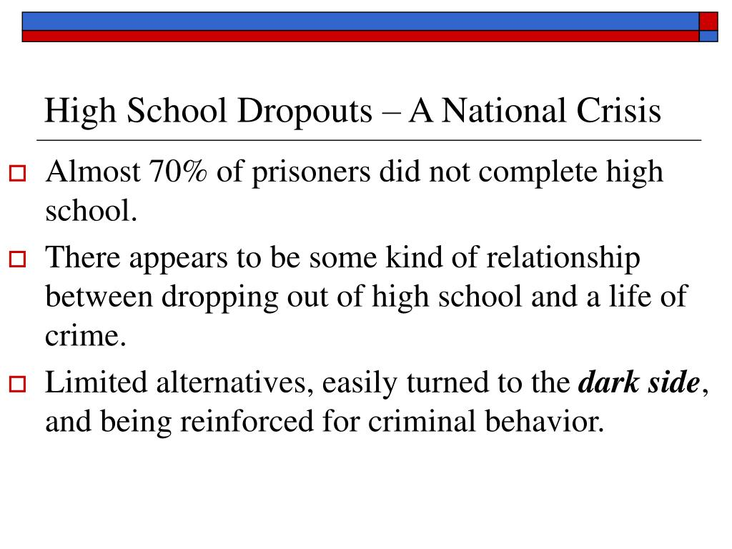 High School Dropouts – A National Crisis