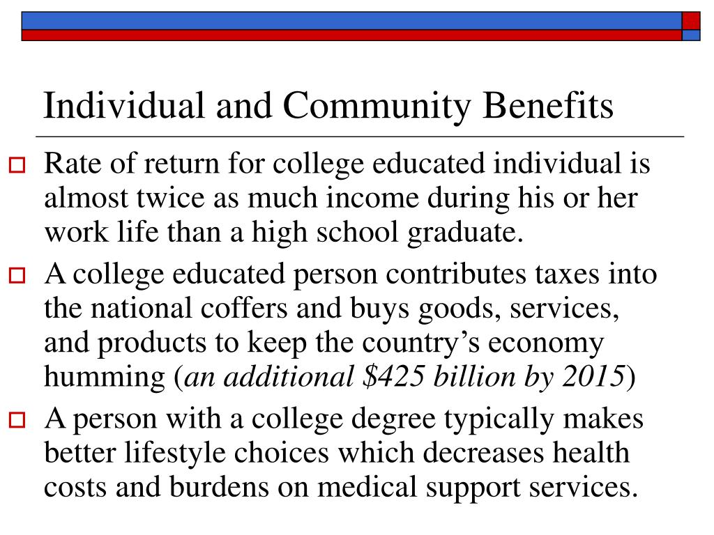 Individual and Community Benefits