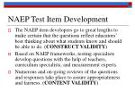 naep test item development