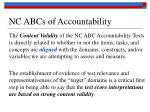 nc abcs of accountability