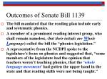 outcomes of senate bill 1139