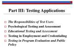 part iii testing applications