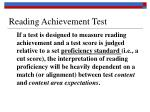 reading achievement test