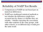 reliability of naep test results