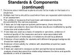 standards components continued