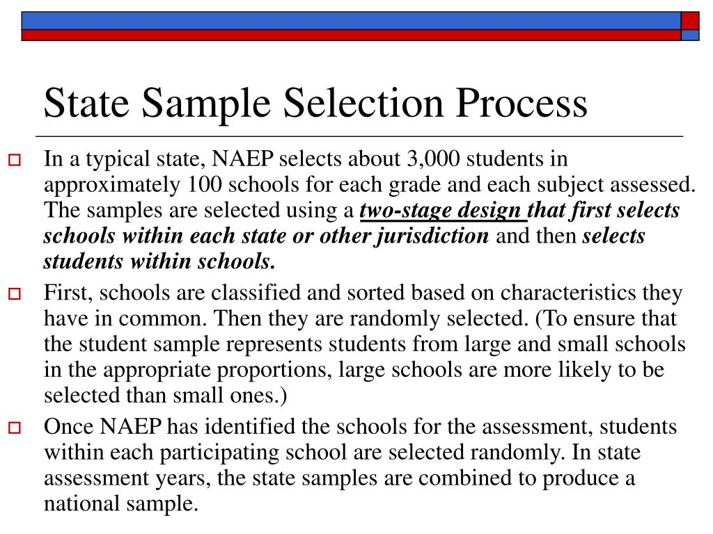 State Sample Selection Process