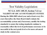 test validity legislation