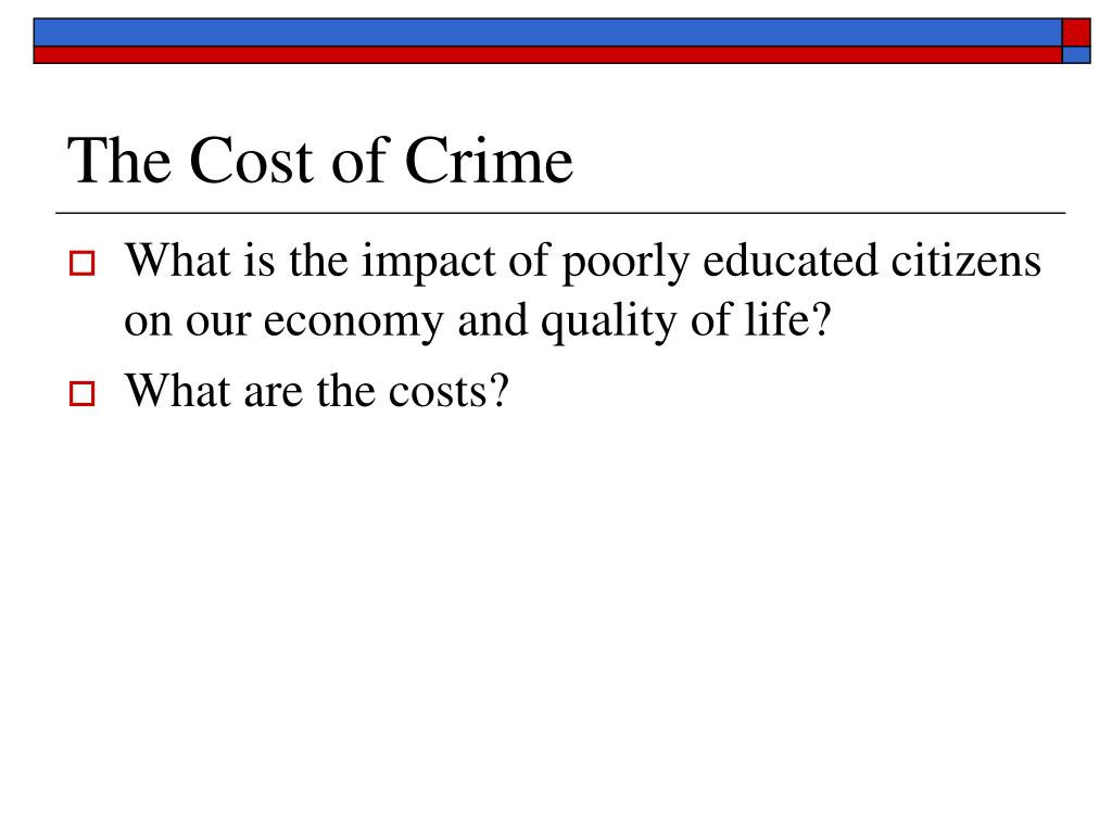 The Cost of Crime