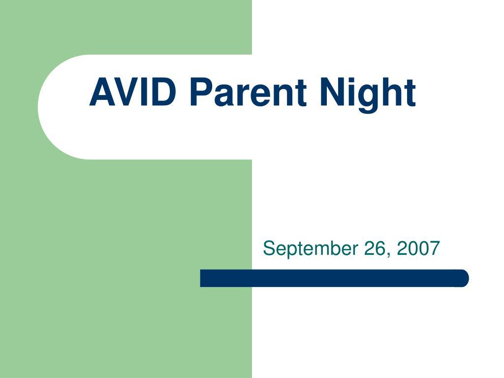 avid parent night