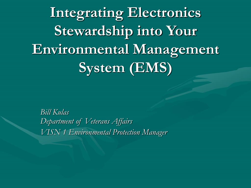 integrating electronics stewardship into your environmental management system ems l.