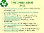 the green team links