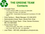 the greene team contacts