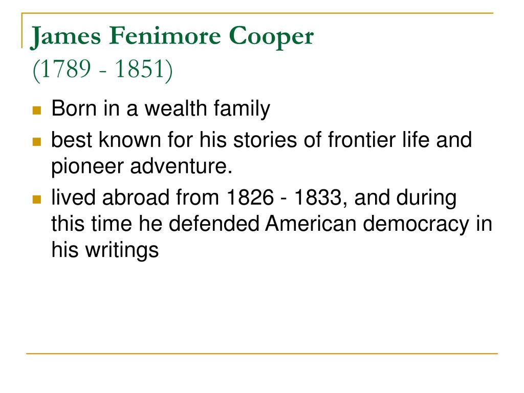 james fenimore cooper 1789 1851 l.
