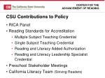 csu contributions to policy