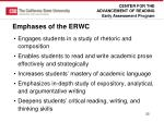 emphases of the erwc