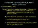 are traumatic memories different in terms of cognitive mechanisms33