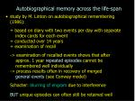 autobiographical memory across the life span