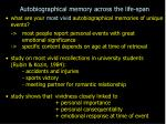 autobiographical memory across the life span6